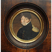 19th Century Portrait Miniature of a French Officer
