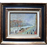 French Post Impressionist c1900 Signed with Initials Oil Painting