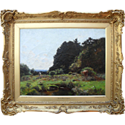 Hugh WILKINSON 1850–1948  In The New Forest, Exhibited at the Royal Academy in1889 . Oil Painting.