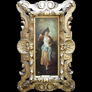 C. Trevani 19th-century Italian school, Collector Seal, Oil Painting.