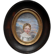 Delafaix 1824 French Bourbon Restoration period Portrait Miniature