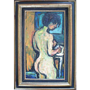 Maurice Verdier (1919-2003) French Expressionist Oil Painting