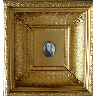 John Hughes c1780  English Modest School Portrait Miniature.