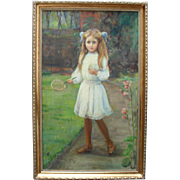 Caroline Audley (B1864) Badminton  English School oil Painting