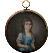 18th Century French School Portrait Miniature.