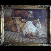Follower of Rosa Bonheur. C Richard c1880. French School, Large Oil Painting