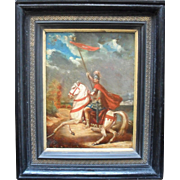 French school 18/19th Century, Constantine the Great Oil Painting