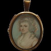 Sampson Towgood ROCHE (1759-1847) English School Signed Portrait Miniature 1790