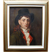 After François Gérard Portrait of Antoine-Jean Gros 19th Century Oil Painting