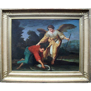 Tobias and the Angel Dutch School c1750.