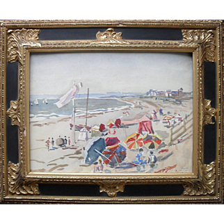 Lucien de Rien 20th Century French School Watercolor Painting, Normandy, France.