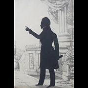Augustin Edouart (1789-1861) Portrait Miniature Silhouette 1836