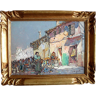 """French Post Impressionist """"Provence"""" France. Oil Painting"""