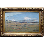 Henry GROSJEAN (1864-1948) French Post Impressionist Landscape Oil Painting