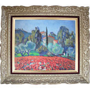 André VERDILHAN (1881-1963) French Post Impressionist  Landscape c1945 Oil Painting.