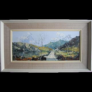 "CHARLES WYATT WARREN (1908 - 1993) Welsh School  ""The Road to Snowdon"" Oil Painting."