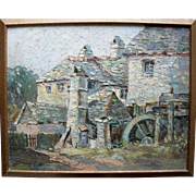 HARRY EDMONDS CRUTE (1888-1975) English Impressionist School. The Watermill Devon. Oil Painting.