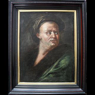 Portrait 18th Century Flemish School Oil Painting