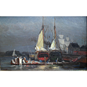 Alexander SCHILLING (1859-1937) American Tonalist Oil Painting