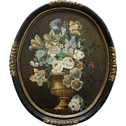 Dutch School c1690 Floral Display Oil Painting