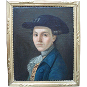 """Lucien"" French School Portrait c1770. Oil Painting"