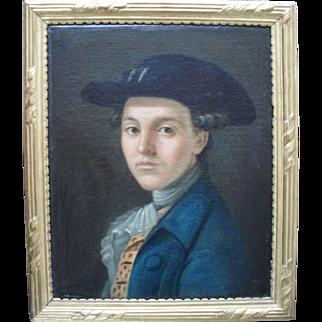 """Lucien"" French School Portrait c1770. Oil Painting"