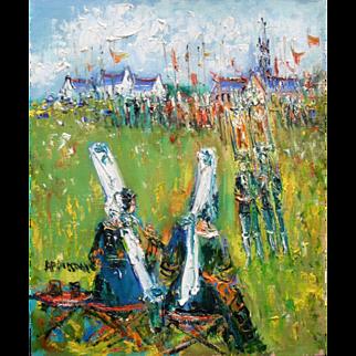 Yolande ARDISSONE (1927) French Post Impressionist Oil Painting Brittany