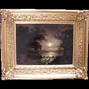 English School Landscape c1830 Oil Painting.