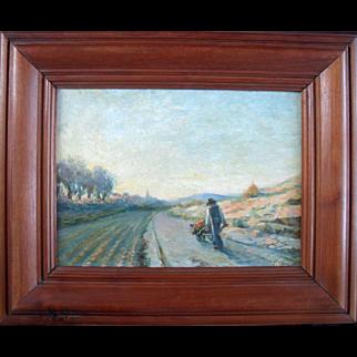 Paul CAZOT La Brouette 1905 Post Impressionist Oil Painting