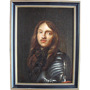Portrait of a Bourbon Nobleman  French School 18th Century Oil Painting