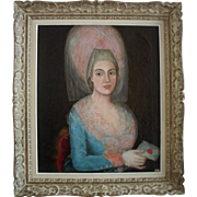 Portrait of a French Aristocrat c1790. Oil Painting