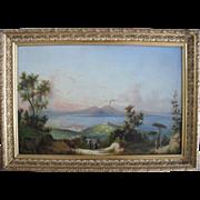 Italian Neapolitan School c1890. Large Oil Painting