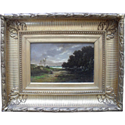 Barbizon School Oil Painting. Indistinctly Signed