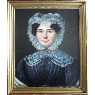 French School c1830 Portrait of a Normandy Woman. Oil Painting.