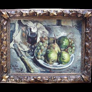 André Thomas ROUAULT (1899-1949) Art Deco Still Life 1926 Oil Painting.