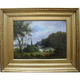 GEORGE COLE (1810- 1883) The Thames at Windsor Oil Painting.