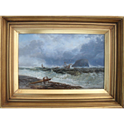 "James WEBB (c.1825-1895) ""Shipwreck off the Bass"" Oil Painting."