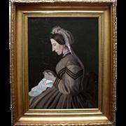 Minna Krag 19th Century Danish Oil Painting