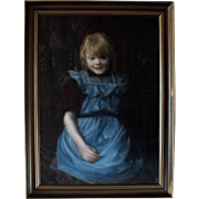 Danish School Late 19th Century Oil Painting.