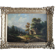 Carl Emanuel BRUNNER (1796-1867) Swiss School Oil Painting