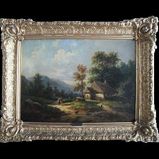 Carl Emanuel BRUNNER (1796-1867) Swiss School Oil Painting