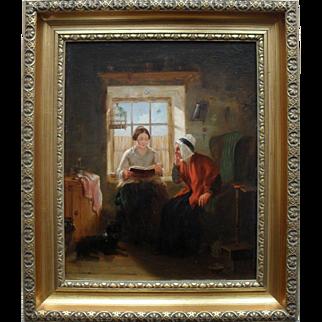 John MacDonald Scottish School c1850 Oil Painting.