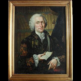 Christian Friedrich SPINDLER (1742-) Portrait of of Charles-Simon Favart dated 1761. Oil Painting.