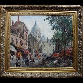 Merio Ameglio (1897-1970) Exhib. Galerie Cambacérès – Paris 1959. Oil Painting