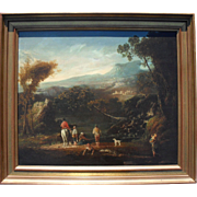 Dutch Master Adriaen OCKER (c.1621-c.1689) Initialed Oil Painting