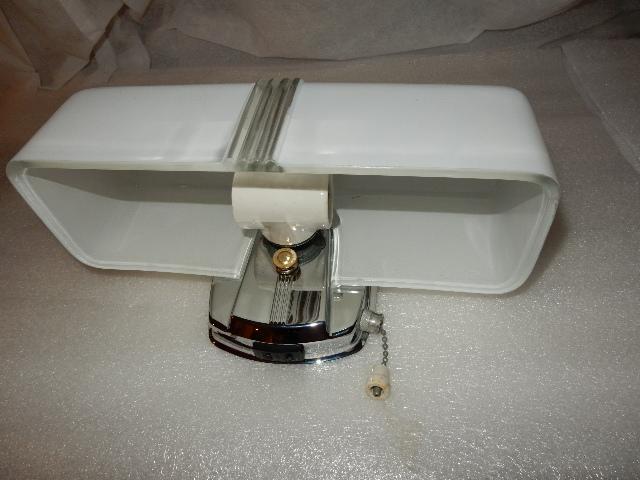 Vintage 2 Light Bulb Chrome Bathroom Wall Fixture W Pull