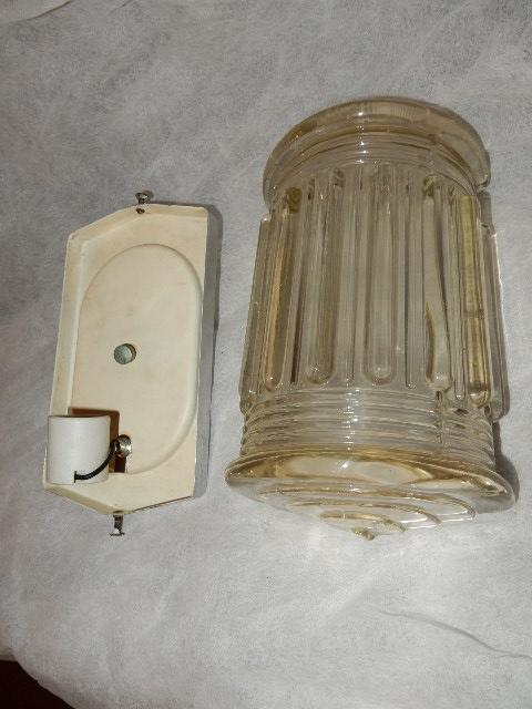 Large art deco porch light sconce sold on ruby lane for Art deco porch light