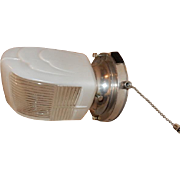 Polished Vintage Bathroom Kitchen Sconce with Deco Shade