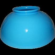 "Victorian Blue Bristol 14"" Library Kerosene Oil Hanging Lamp Shade"