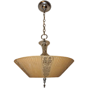 Consolidated Art Deco Hanging Ceiling Light Fixture